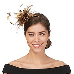 Star by Julien Macdonald - Gold feather fascinator