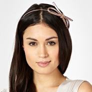 Mauve diamante bow headband