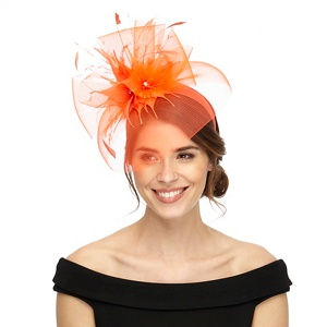 Star by Julien Macdonald Orange floral fascinator