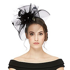 Star by Julien Macdonald - Black floral fascinator