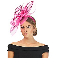 Star by Julien Macdonald - Bright pink wave fascinator