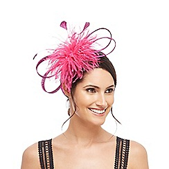Star by Julien Macdonald - Pink pom pom maribou band fascinator