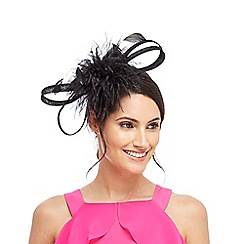 Star by Julien Macdonald - Black pom pom maribou band fascinator