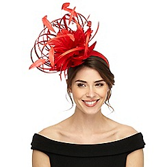 Star by Julien Macdonald - Red satin loop fascinator