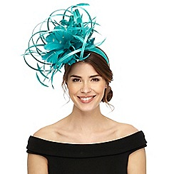 Star by Julien Macdonald - Light turquoise satin loop fascinator