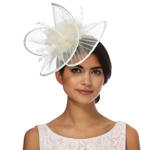 Star by Julien Macdonald White pleated wave fascinator