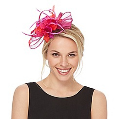 Star by Julien Macdonald - Red two tone floral fascinator