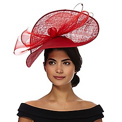 Star by Julien Macdonald - Red 'Talulah' wave fascinator