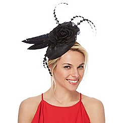 Star by Julien Macdonald - Black feather button fascinator