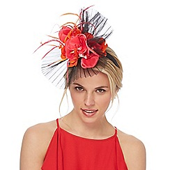 Star by Julien Macdonald - Multi-coloured pleated orchid fascinator