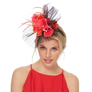 Star by Julien Macdonald Multi-coloured pleated orchid fascinator