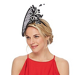 Star by Julien Macdonald - Black flower fascinator