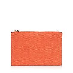 Star by Julien Macdonald - Orange croc-effect clutch bag