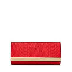 Star by Julien Macdonald - Red snakeskin-effect clutch bag