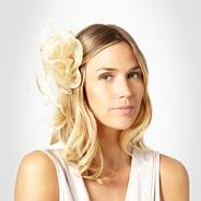 Gold ruffled fascinator