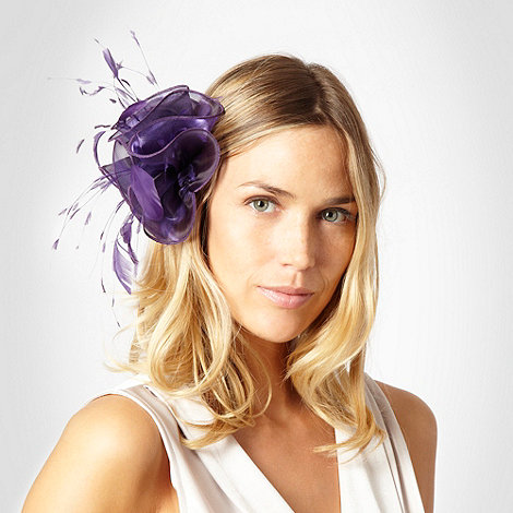 Debut - Purple organza flower clip