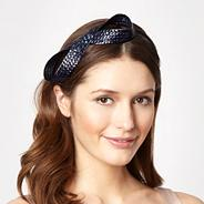 Navy figure of eight headband
