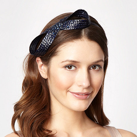 Top Hat by Stephen Jones - Navy figure of eight headband