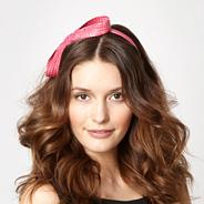 Bright pink figure of eight headband