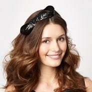 Designer black figure of eight headband