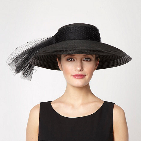 Top Hat by Stephen Jones - Black oversized mesh bow hat