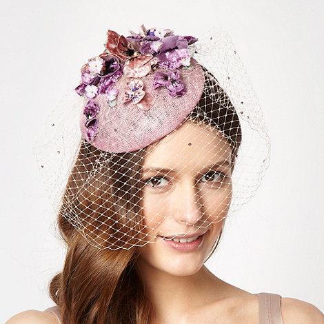 Top Hat by Stephen Jones - Designer pale pink herbaceous flower beret fascinator