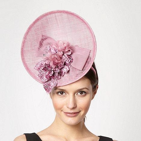 Top Hat by Stephen Jones - Pale pink velvet flower fascinator