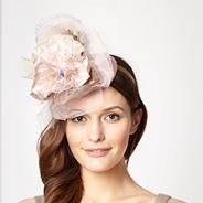 Designer pale pink pansy top headband