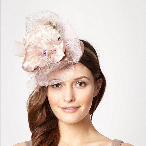 Top Hat by Stephen Jones - Designer pale pink pansy top headband