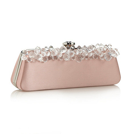 Top Hat by Stephen Jones - Designer pale pink gem detail clutch bag