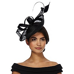 J by Jasper Conran - Black mixed quill fascinator
