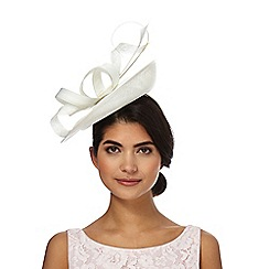 J by Jasper Conran - White mixed quill fascinator