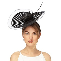 J by Jasper Conran - Black stitched shell fascinator