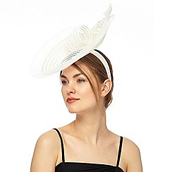 J by Jasper Conran - White stitched crin shell fascinator
