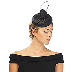 J by Jasper Conran - Black satin knot fascinator