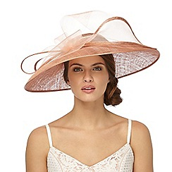 J by Jasper Conran - Light pink large twirl saucer fascinator