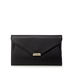 J by Jasper Conran - Black metal facet clutch bag