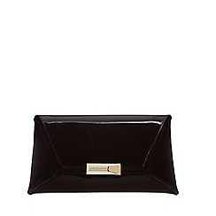 J by Jasper Conran - Black patent clutch bag