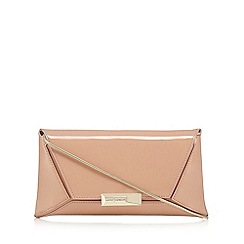 J by Jasper Conran - Light pink patent clutch bag