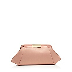 J by Jasper Conran - Pink satin clutch bag