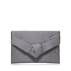 J by Jasper Conran - Grey satin clutch bag