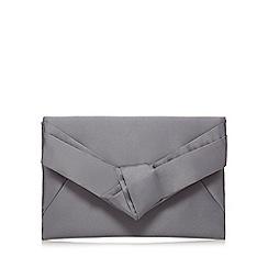 J by Jasper Conran - Grey satin clutch bag