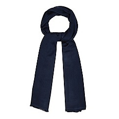J by Jasper Conran - Navy silk blend pashminetta