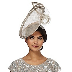 J by Jasper Conran - Silver linear loop disc fascinator