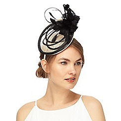 J by Jasper Conran - Black and white mini linear disk fascinator
