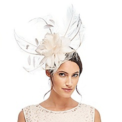 J by Jasper Conran - Ivory feather spray fascinator