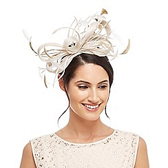 J by Jasper Conran - Light gold two-toned fascinator