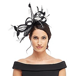 J by Jasper Conran - Black two-toned fascinator