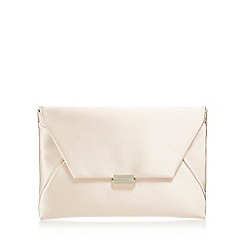 J by Jasper Conran - Natural satin clutch bag