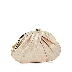 Debut - Pink gathered clutch bag
